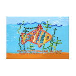 Gold Fish Mosaic Canvas Print