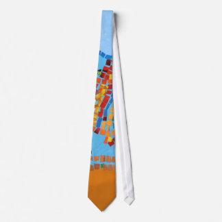 Gold Fish Mosaic Neck Tie