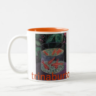 Gold Fish Ode to Matisse by trinaburtonhoward.com Two-Tone Coffee Mug