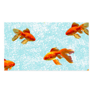 gold fish pattern business card