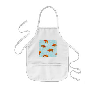 gold fish pattern kids' apron