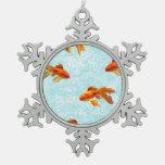 gold fish pattern ornaments