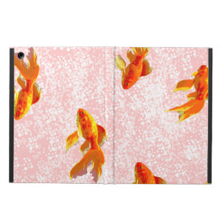 Gold fish pattern pink case for iPad air