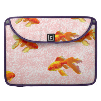 Gold fish pattern pink sleeve for MacBook pro