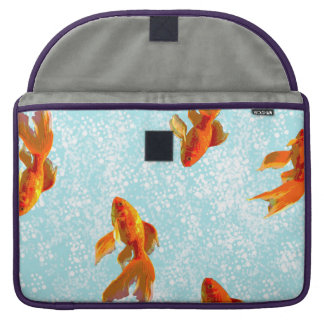 gold fish pattern sleeve for MacBooks