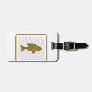 GOLD Fish Pet Aquatic Zoo NVN281 Greetings kids Luggage Tag