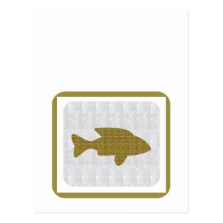 GOLD Fish Pet Aquatic Zoo NVN281 Greetings kids Postcard