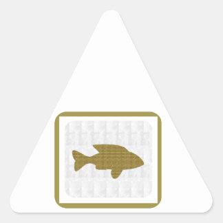 GOLD Fish Pet Aquatic Zoo NVN281 Greetings kids Triangle Stickers