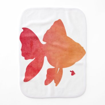 Beach Themed gold-fish-sunset. burp cloth
