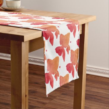 Beach Themed gold-fish-sunset design short table runner