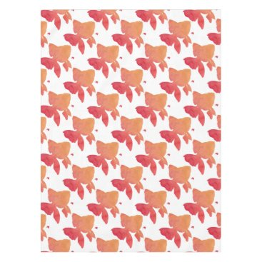 Beach Themed gold-fish-sunset design tablecloth
