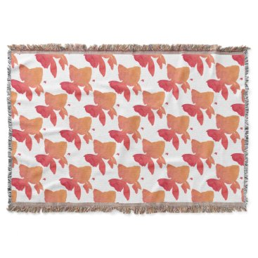 Beach Themed gold-fish-sunset design throw