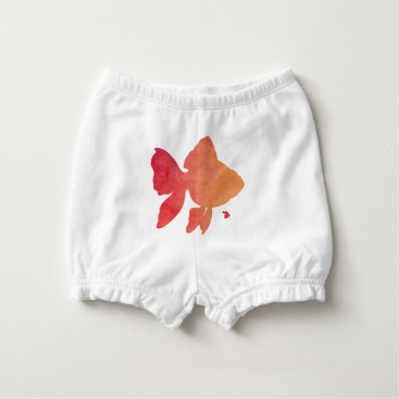 Beach Themed gold-fish-sunset. diaper cover
