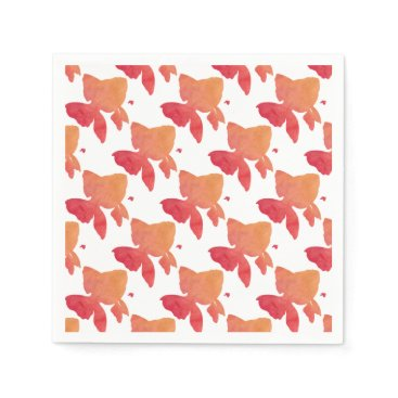 Beach Themed gold-fish-sunset. napkin