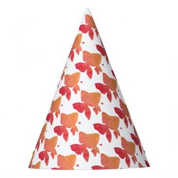 Beach Themed gold-fish-sunset. party hat