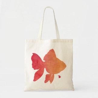gold-fish-sunset. tote bag