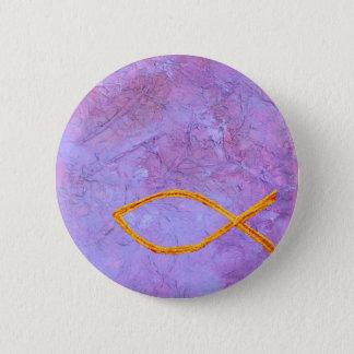 Gold fish symbol pinback button