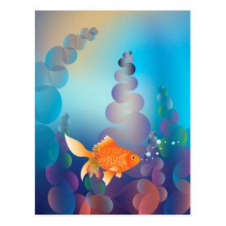 Gold Fish Underwater2 Postcard