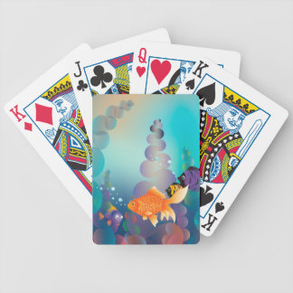 Gold Fish Underwater Bicycle Playing Cards