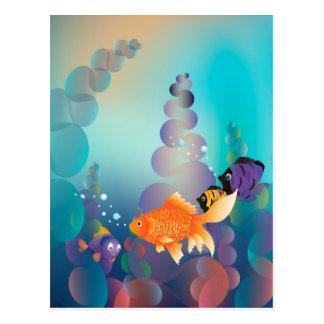 Gold Fish Underwater Postcard