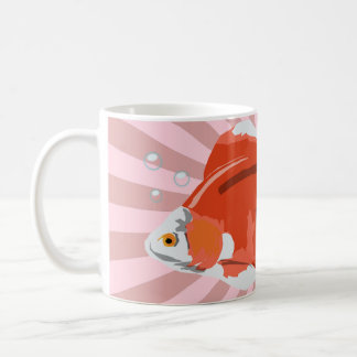 Gold Fish with Bubbles Coffee Mug