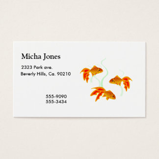 Gold Fishies Business Card