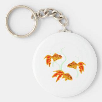 Gold Fishies Keychain
