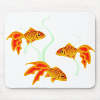 Gold Fishies Mouse Pad