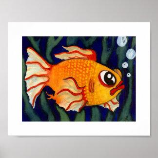 Gold Fishy - Animals - 8 x 10 Poster