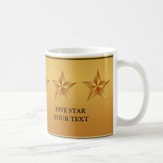 Gold Five 5 Star Custom Mug