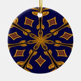 Gold Flake Christmas Ornament