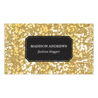 Gold Flake Sparkle Pattern Business Card