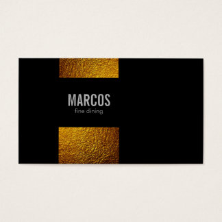Gold Flakes / Black Business Card