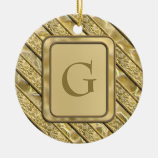 Gold Flakes Ceramic Ornament