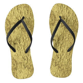Gold Flakes Flip Flops