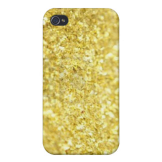 Gold flakes iPhone 4/4S case