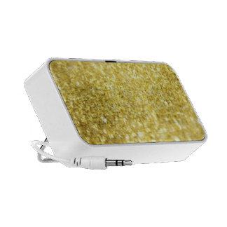 Gold flakes mini speaker