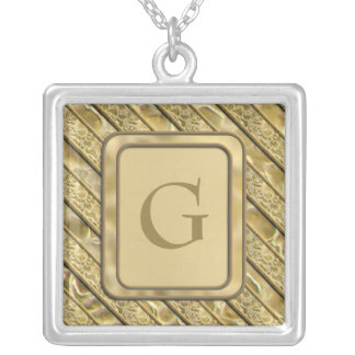 Gold Flakes Personalized Necklace