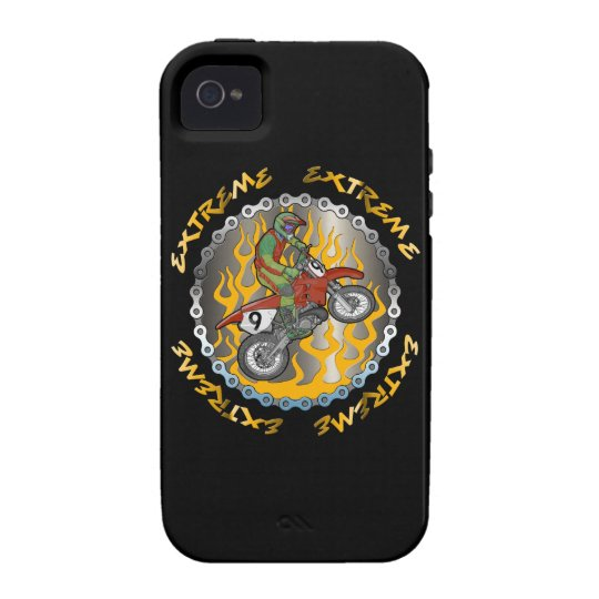 Gold Flames Dirtbike Jumper Motorcycle iPhone Case