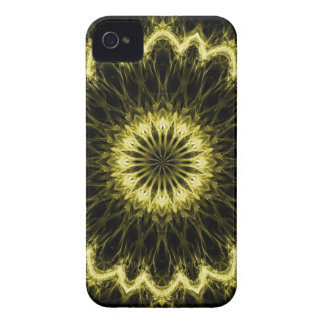 Gold Flaming Flower iPhone 4 Case