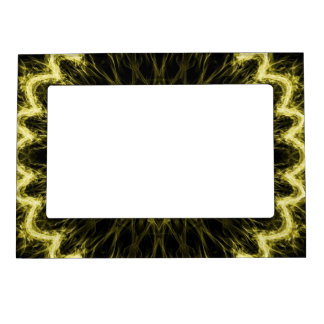gold flaming flower magnetic photo frame