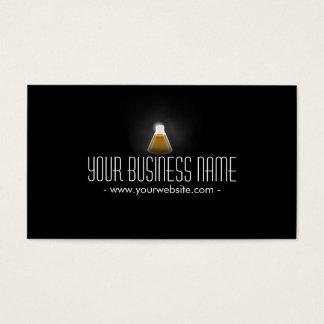 Gold Flask in the Dark Scientific Business Card