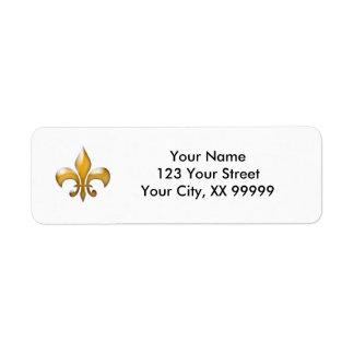 Gold Fleur de Lis Address Labels