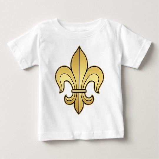 Gold Fleur de lis Baby T-Shirt