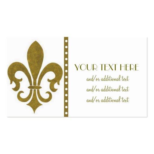 Fleur de lis business card templates page2 bizcardstudio gold fleur de lis business card colourmoves