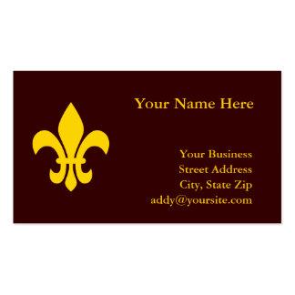 Gold Fleur de Lis Business Card Templates