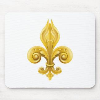 Gold Fleur-de-lis design Mousemats