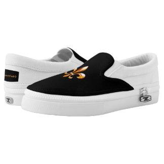 Gold Fleur de Lis- New Orleans Slip-On Sneakers