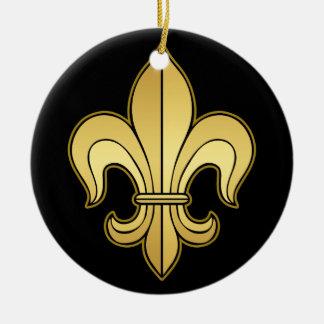 Gold Fleur de lis Christmas Tree Ornament