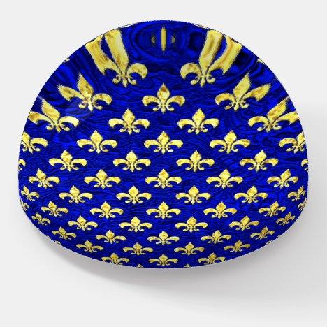 Gold Fleur De Lis Patina Pattern Paperweight